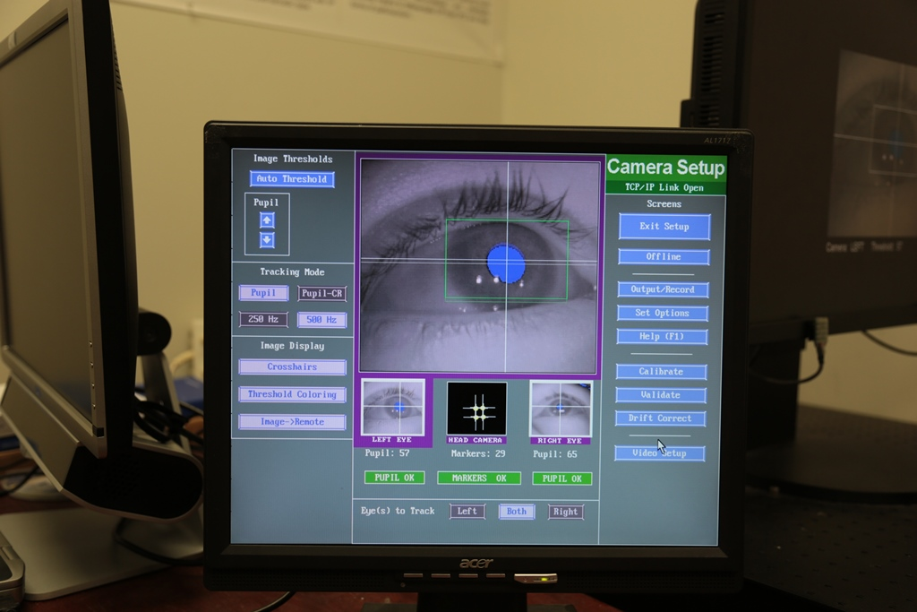 Researcher Looks To Eye Tracking Device >> In The Blink Of An Eye Vcu Researchers Detect Early Signs Of