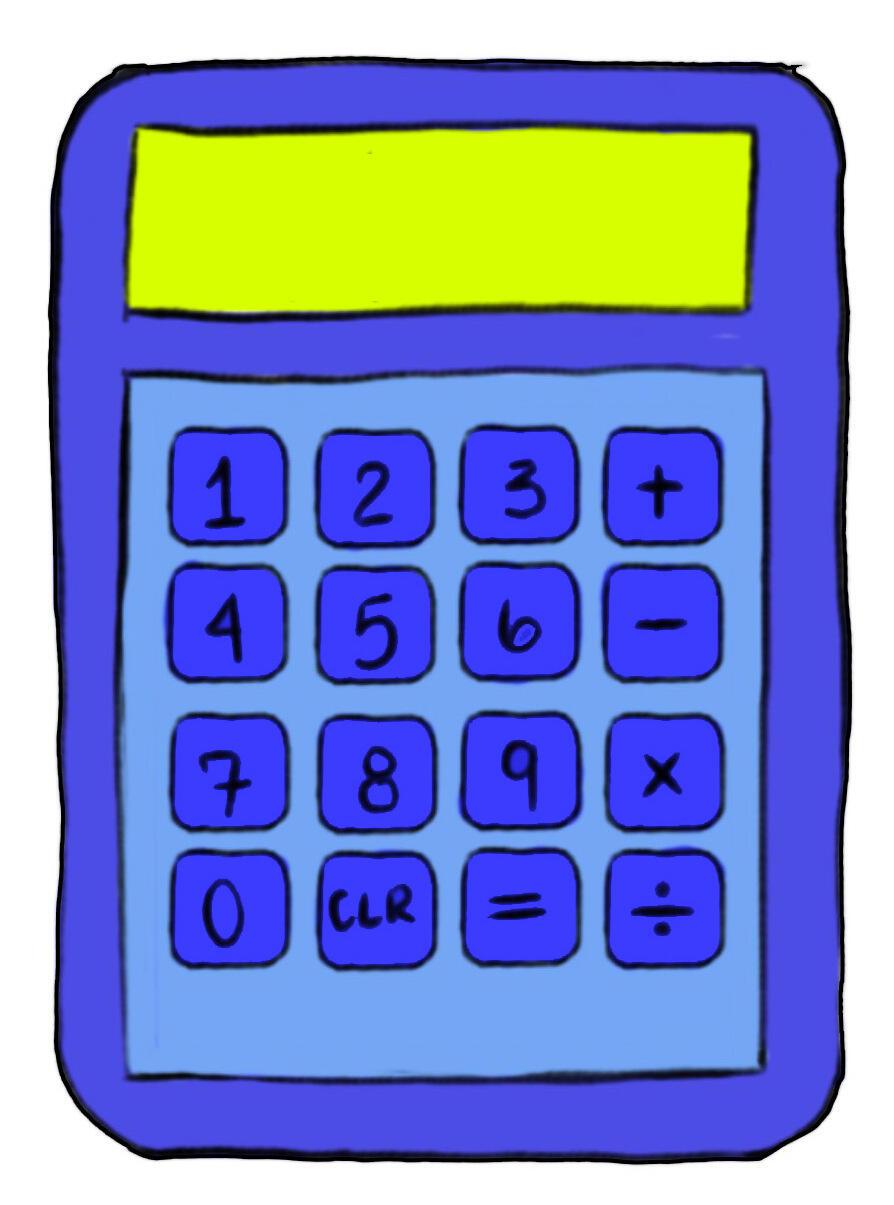 ilustração de uma calculadora
